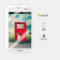 Genuine Muvit 1Matt 1Glossy Screen Protector for LG L90 Anti Glare & Fingerprint