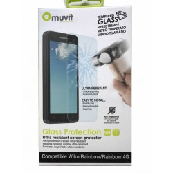 Genuine Muvit Tempered Glass 9H Screen Protector WIKO RAINBOW 4G