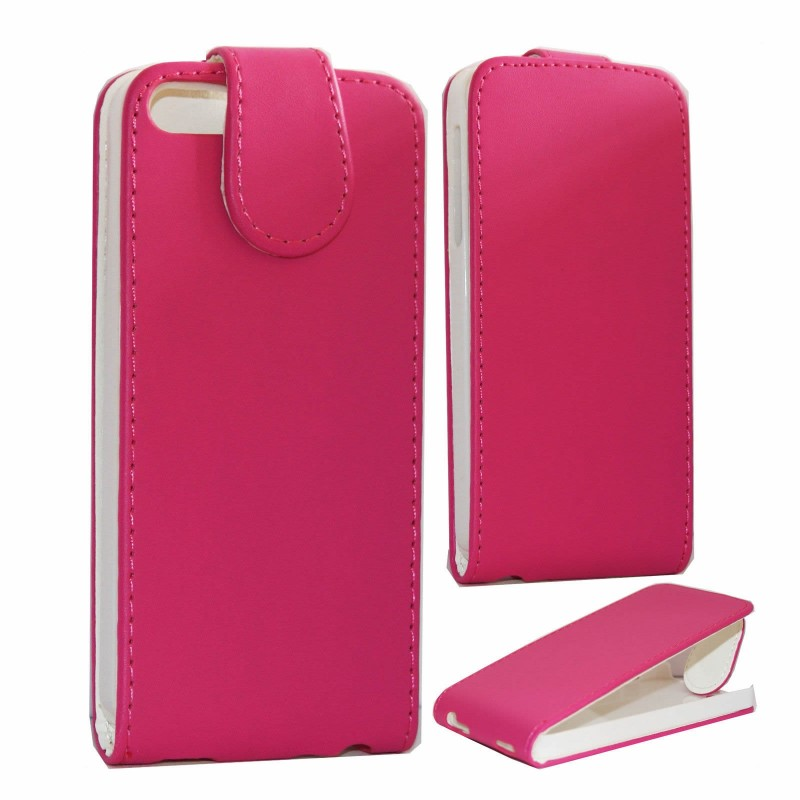 Pink Protective Leather Flip Case Cover Pouch For Apple iPhone 5 SE 5G 5S