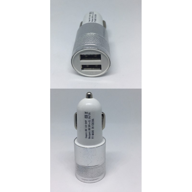Mouse over image to zoom Have one to sell? Sell it yourself Details about  Dual 2.1A USB Port Car Charger Adapter - Silver