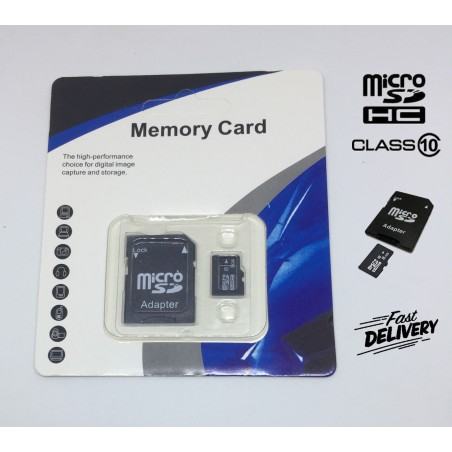 Class 10 Micro SD 8GB Card+Adapter TF SDHC Flash Memory Cards For Camera, Mobile