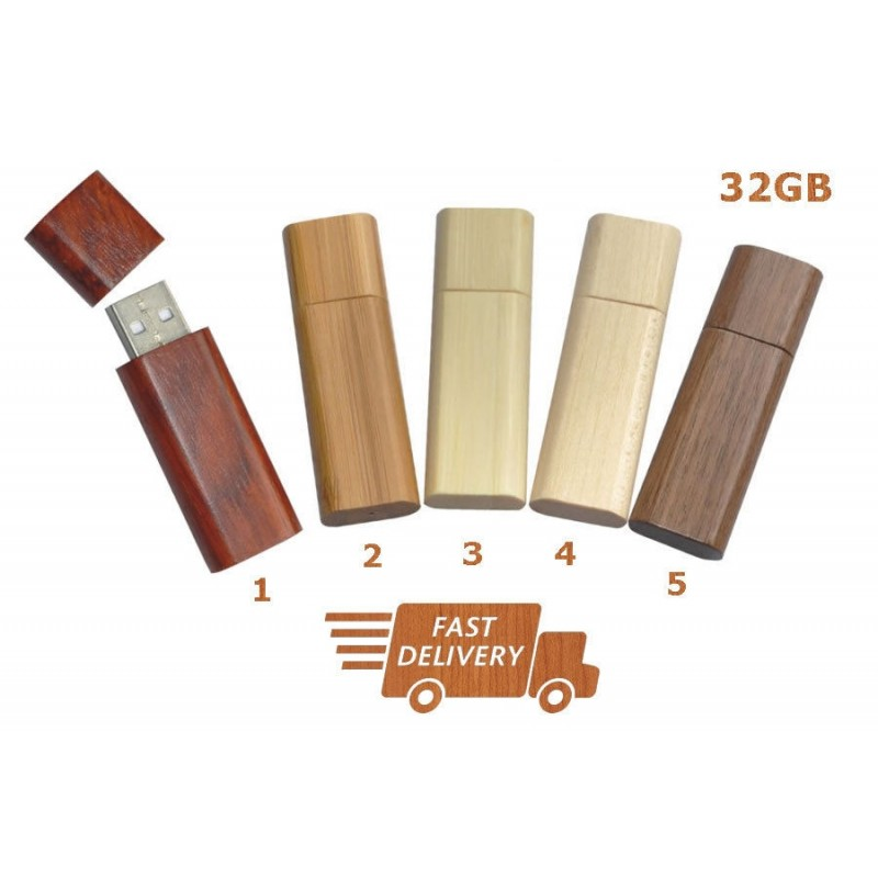 High Quality Wooden USB 2.0 Flash Memory Stick Pen Storage Drive 32GB