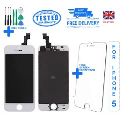 For iPhone 5 Replacement Full LCD Touch Screen Full Display Digitizer AAA White & Black