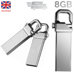 Carabiner Memory Stick Drive 8GB Real Capacity Portable Mini Metal USB 2.0