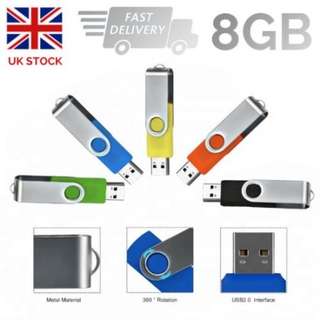 High Quality Memory Stick Drive 8GB Real Capacity Portable Mini Metal USB 2.0