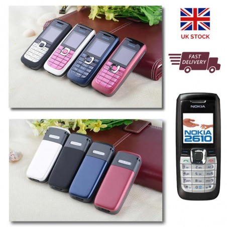 Original NOKIA 2610 Unlocked Mobile Phone Calculator Voice Recorder GSM 2G