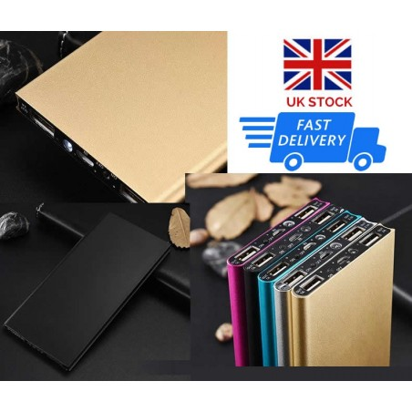 Large Capacity Power Bank 20000mAh 2 USB Charger For iPad, Mobile Phones