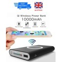 Universal Qi & Cable Charger Power Bank 10000mAh Fast Charging For Mobile Phones
