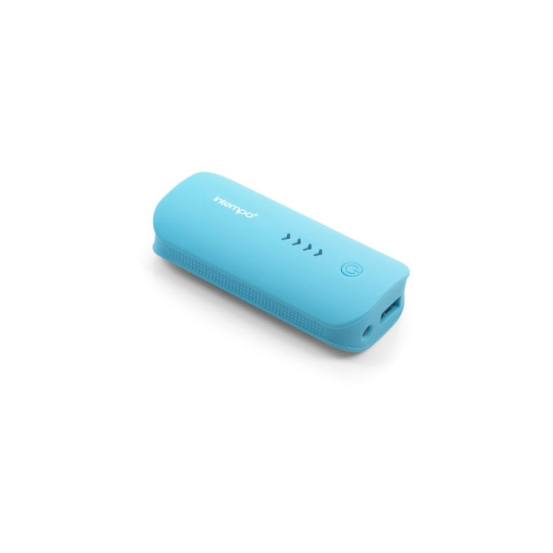 Details about  Genuine Intempo Portable Rechargeable Lithium Charger, 4000 mAh Blue Power Bank