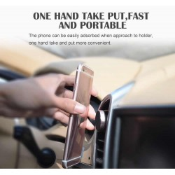 360° Universal Metal Air Vent Magnetic Car Mount Holder For GPS Mobile Phone