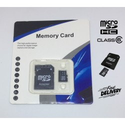 Class 6 Micro SD 16GB Card+Adapter TF SDHC Flash Memory Cards For Camera, Mobile