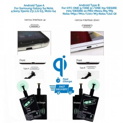 Universal Qi Wireless Charger Receiver Android Mobile For Samsung,LG, Type A & B