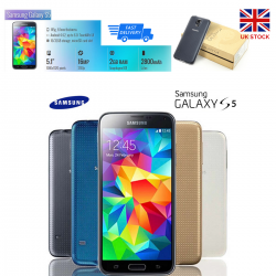 NEW Samsung Galaxy S5 G900F Storage 16GB RAM 2GB Camera 16MP Unlocked Smartphone